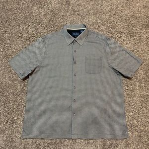 Nat Nast Mens Button Up Shirt Geometric Diamonds